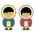 Eskimo / Inuit Boy & Girl Stock Photos