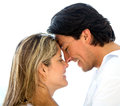 Eskimo kiss Royalty Free Stock Photos