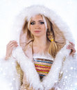 Eskimo pretty girl Royalty Free Stock Images