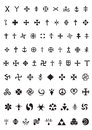 Esoteric symbols and crosses Royalty Free Stock Photography