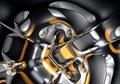 Espacio de Gold&silver (extracto) 01 Imágenes de archivo libres de regalías