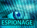 Espionage illustration Royalty Free Stock Photography