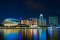 Esplanade Singapore at dusk Royalty Free Stock Photo