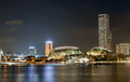 Esplanade Theatres on the Bay in Singapore , with beautiful water reflection Royalty Free Stock Photo