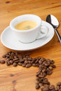 Espresso coffee and beans Royalty Free Stock Photos