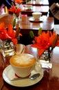 Espresso coffee with foam Royalty Free Stock Image
