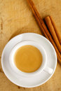 Espresso coffee in thick white cup Stock Image
