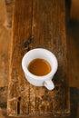 Espresso coffee in thick white cup Stock Photo