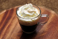 Espresso coffee with white cream Royalty Free Stock Photo