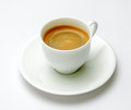 Espresso coffee in white cup Royalty Free Stock Photography