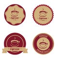 Espresso labels on white background Royalty Free Stock Images