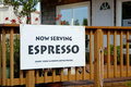 Espresso sign 6 Stock Image