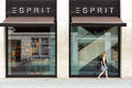 Esprit store on friedrichstrasse berlin august is a publicly owned manufacturer of apparel footwear accessories and Royalty Free Stock Image