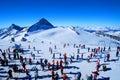 Esquiadores Imágenes de archivo libres de regalías