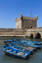Essaouira port historical tower in unesco heritage Stock Image