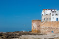 Essaouira port in Morocco, view on old architecture and city wall Royalty Free Stock Photo