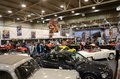 Essen motor show germany december visitors admire classic cars from europe and usa during in germany on december Stock Image