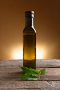 Essential oil pure organic in glass bottle Royalty Free Stock Photography