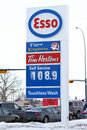 Stock Photo Esso gas station