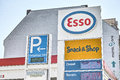Esso gas station in a street Royalty Free Stock Photos