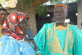 Establishment of a usual chief in Burkina Faso Royalty Free Stock Images