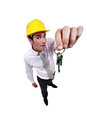 Estate agent dangling house keys Stock Images