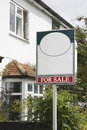 Estate Agent for sale Sign Royalty Free Stock Photo