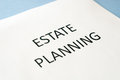 Estate planning on blue background Stock Image