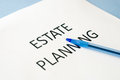 Estate planning on blue background Royalty Free Stock Photos