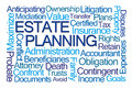 Estate planning word cloud on white background Stock Image