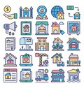 Estate Property and Law Isolated Vector Icons Set that can easily modify or edit Estate Property and Law Isolated Vector Icons Se