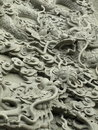 Estatua de la cantería del dragón Foto de archivo libre de regalías