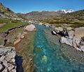 Estaube Gave river watercourse Royalty Free Stock Photo