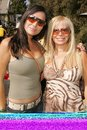 Estefania iglesias and gloria kissell at the th annual wildlife waystation safari brunch benefit playboy mansion los angeles ca Stock Photography