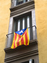 Estelada flag hanging from a balconade Stock Image