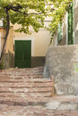 Estellencs facade entrance of a house in majorca balearic islands spain Royalty Free Stock Image