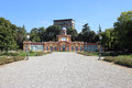 Estense gardens in modena palazzina ducale the public italy Royalty Free Stock Images