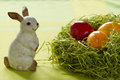 Ester eggs with bunny Royalty Free Stock Images