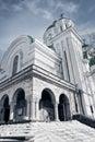 Esterno di vecchia chiesa antica ortodossa Fotografie Stock
