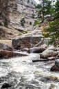 Estes Park Colorado Rocky Mountain River Landscape Royalty Free Stock Photo