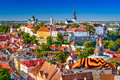 Estonia tallinn skyline old town of toompea hill Stock Photo