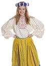 Estonian folk clothing Royalty Free Stock Photo