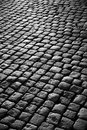 Estrada do Cobblestone Fotografia de Stock Royalty Free