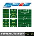 Estratégia dos trabalhos de equipa. Posições do futebol. Foto de Stock
