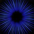 Estrella circular que brilla intensamente del azul abstracto Fotos de archivo