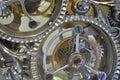 Estructura interna del mecanismo del reloj Fotografía de archivo libre de regalías