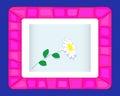 Estrutura cor-de-rosa em um fundo azul. Imagens de Stock Royalty Free