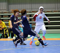 Etedadi fatemeh of iran incheon july drives the ball during an th asian indoor and martial arts games at songdo global university Stock Photography