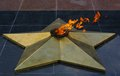 Eternal flame in park of victory karaganda kazakhstan Stock Photo