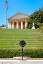 The Eternal Flame and the Robert E. Lee house at Arlington Cemetery Royalty Free Stock Photo